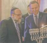 Żydowska diaspora z USA podzieliła taktycznie teren w Warszawie - amerykański rabin Michael Schudrich trzyma Pałac Prezydencki