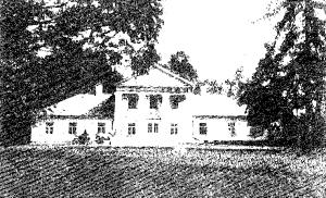 Abele. Dwór od frontu, przed 1914 r.