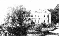 Antuzów. Elewacja frontowa pałacu, 1974 r.