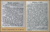 Artykuł z Gazety Polowej VIII-IX 1920 roku