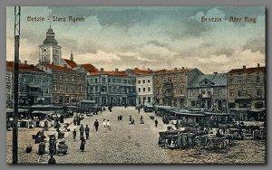 Tak kiedyś wyglądał Stary Rynek w starym mieście Będzin, w którym był wtedy taki czas, że prawie 80 % mieszkańców to byli Żydzi.