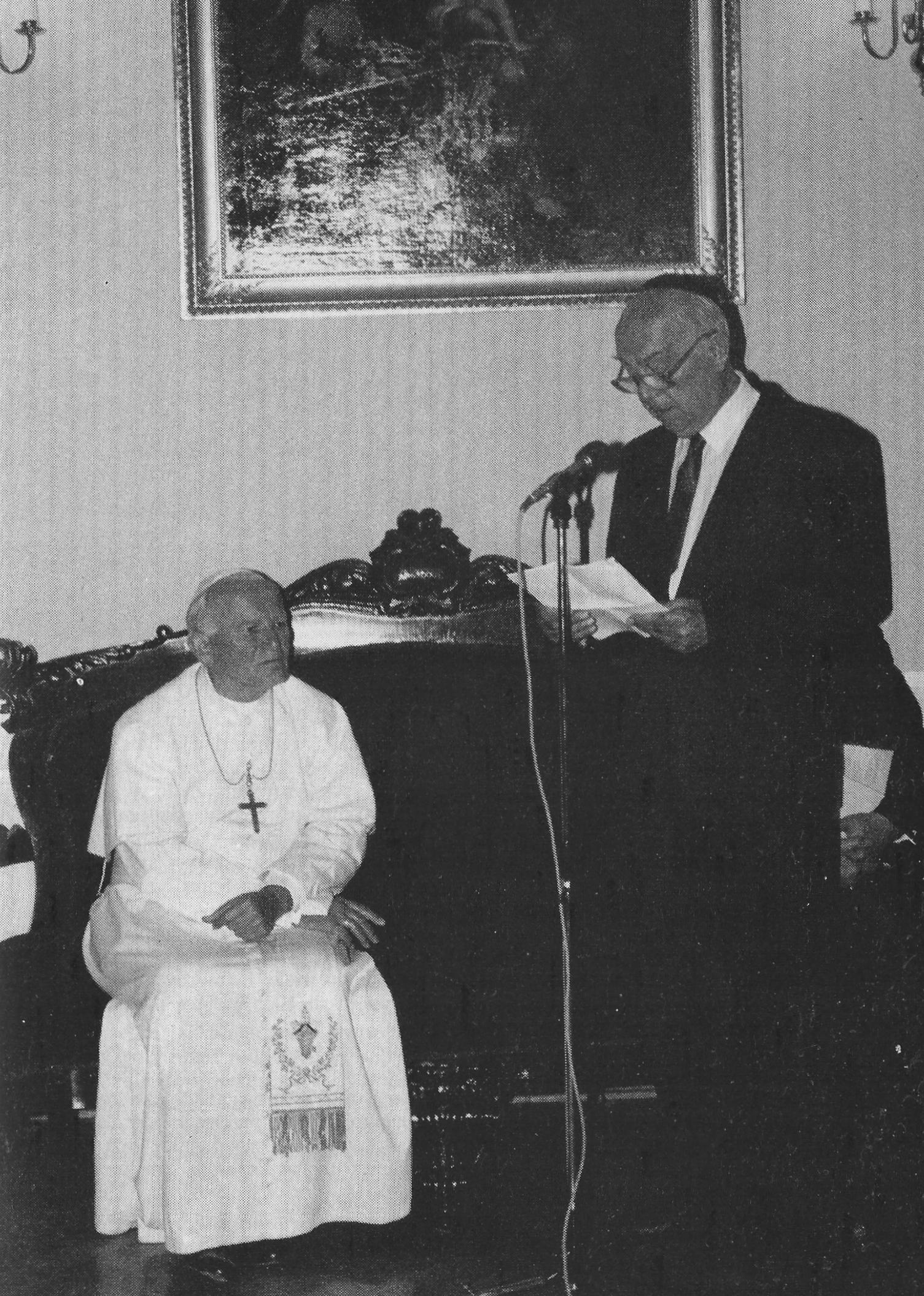 Spotkanie z Papieżem Janem Pawłem II. Wystąpienie Michała Friedmana.