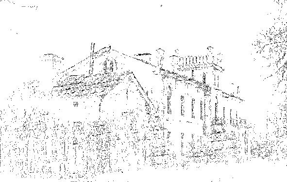 Berdówka. Pałac od strony podjazdu, przed 1939 r.