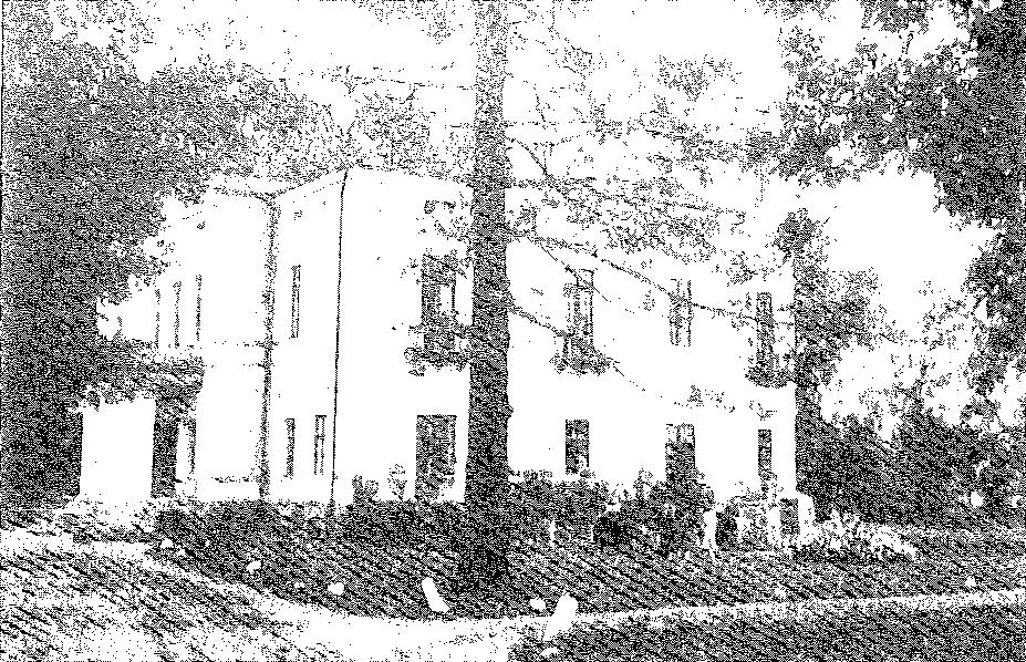 Biała Waka. Pałac od strony podjazdu, przed 1939 r.