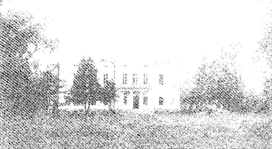 Biała Waka. Elewacja frontowa pałacu, przed 1939 r