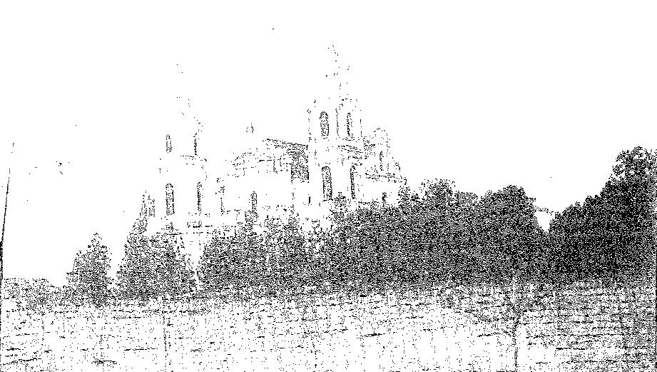 Budsław. Widok ogólny kościoła, przed 1939 r.