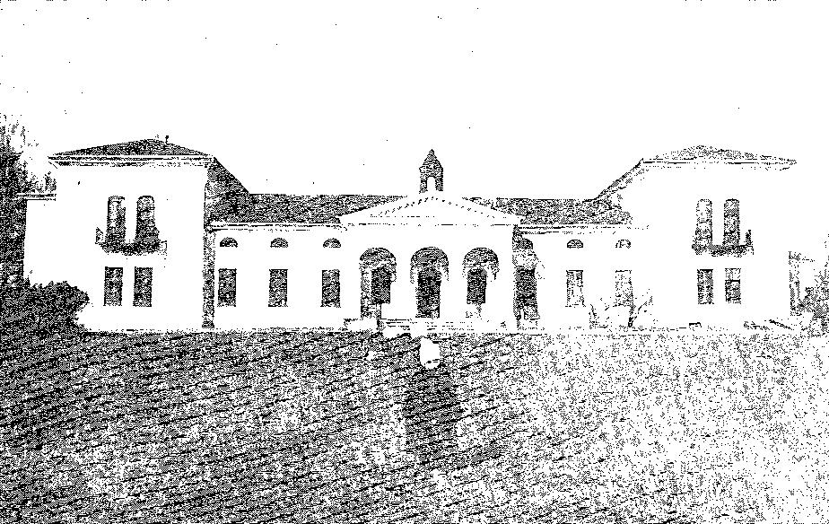 Burbiszki. Elewacja frontowa pałacu, przed 1939 r.