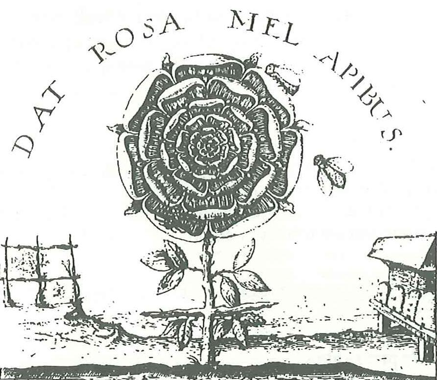 Symbol Różokrzyżowców z pszczołami