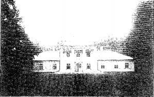 Abele. Dwór od frontu, przed 1914