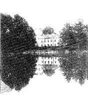 Antonosze. Widok na pałac od strony parku, przed 1939 r.
