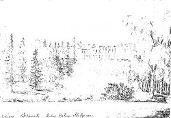 Belmont. Pałac od strony parku. Rys. N. Orda