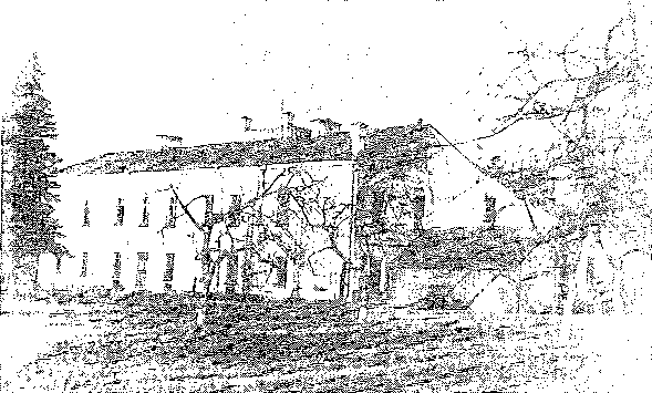 Berdówka. Pałac od strony ogrodu, przed 1939 r.