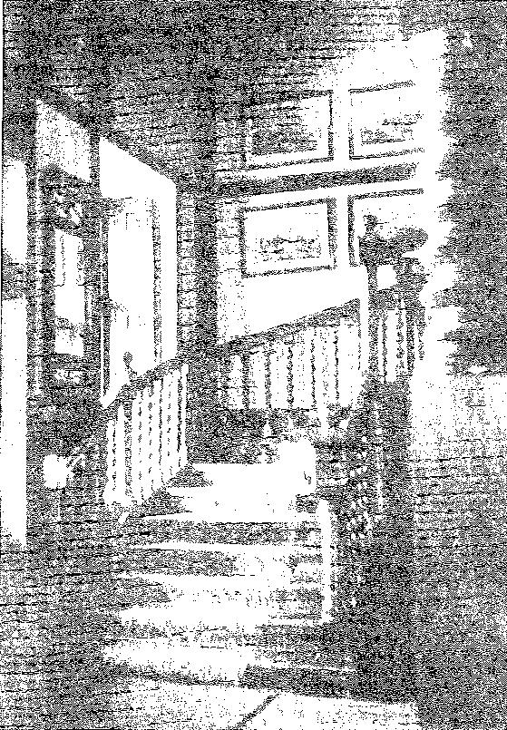 Biała Waka. Klatka schodowa, przed 1939 r.