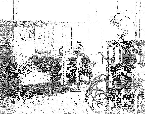 Biała Waka. Fragment górnej kondygnacji hallu, przed 1939 r.