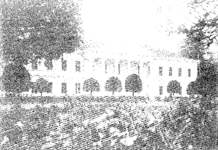 Bortkuszki. Elewacja frontowa pałacu, przed 1939 r.