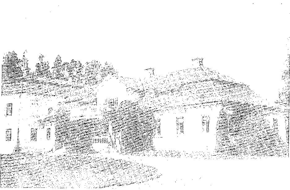 Budsław. Dwór od frontu, przed 1939